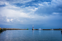 Wladyslawowo Port Piers With Exit To Baltic Sea Royalty Free Stock Photography