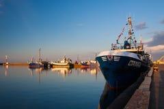 Wladyslawowo port during sunset Stock Image