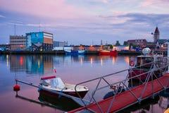 Wladyslawowo Port at Twilight Stock Photography