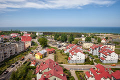 Wladyslawowo Town at Baltic Sea in Poland Royalty Free Stock Photos