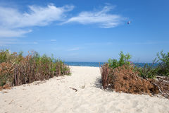 Wladyslawowo White Sand Beach at Baltic Sea Royalty Free Stock Image