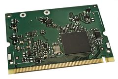 WLAN-Component. WLAN Card for notebooks, space at the chip for text Stock Photography
