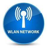 Wlan network elegant blue round button. Wlan network isolated on elegant blue round button abstract illustration Stock Image
