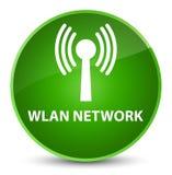 Wlan network elegant green round button. Wlan network isolated on elegant green round button abstract illustration Stock Images