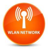 Wlan network elegant orange round button Stock Images