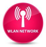 Wlan network elegant pink round button. Wlan network isolated on elegant pink round button abstract illustration Royalty Free Stock Images