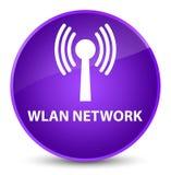 Wlan network elegant purple round button. Wlan network isolated on elegant purple round button abstract illustration Stock Images