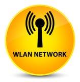 Wlan network elegant yellow round button. Wlan network isolated on elegant yellow round button abstract illustration Royalty Free Stock Images