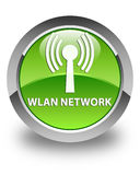 Wlan network glossy green round button Royalty Free Stock Photography