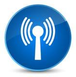 Wlan network icon elegant blue round button Royalty Free Stock Images