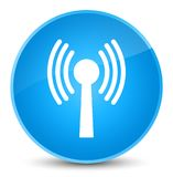 Wlan network icon elegant cyan blue round button. Wlan network icon isolated on elegant cyan blue round button abstract illustration Royalty Free Stock Photography