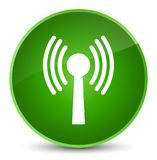 Wlan network icon elegant green round button Royalty Free Stock Image