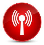 Wlan network icon elegant red round button Royalty Free Stock Photography