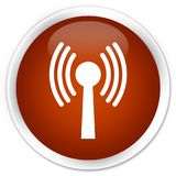 Wlan network icon premium brown round button. Wlan network icon isolated on premium brown round button abstract illustration Royalty Free Stock Image