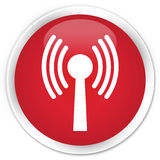 Wlan network icon premium red round button Stock Images