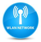 Wlan network elegant cyan blue round button. Wlan network isolated on elegant cyan blue round button abstract illustration Royalty Free Stock Photography
