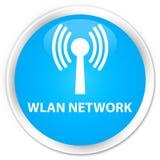 Wlan network premium cyan blue round button Royalty Free Stock Image