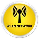 Wlan network premium yellow round button Stock Image
