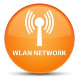 Wlan network special orange round button Royalty Free Stock Photography