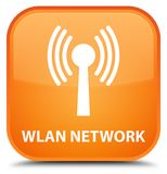 Wlan network special orange square button Royalty Free Stock Photography