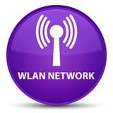 Wlan network special purple round button Stock Photos