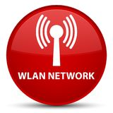 Wlan network special red round button. Wlan network isolated on special red round button abstract illustration Royalty Free Stock Photos