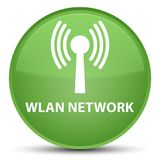 Wlan network special soft green round button Stock Photo