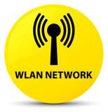 Wlan network yellow round button Stock Photo