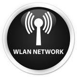 Wlan network premium black round button. Wlan network  on premium black round button abstract illustration Royalty Free Stock Photography