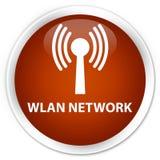 Wlan network premium brown round button. Wlan network isolated on premium brown round button abstract illustration Stock Photo