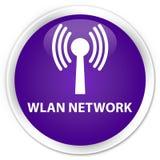 Wlan network premium purple round button. Wlan network isolated on premium purple round button abstract illustration Royalty Free Stock Photo