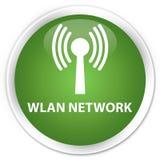 Wlan network premium soft green round button. Wlan network isolated on premium soft green round button abstract illustration Stock Photos