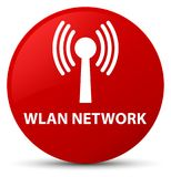 Wlan network red round button Stock Images