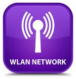 Wlan network special purple square button. Wlan network isolated on special purple square button abstract illustration Royalty Free Stock Photos