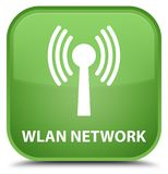 Wlan network special soft green square button Royalty Free Stock Photo