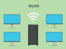 Wlan wireless local area network Stock Images