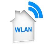 Wlan y casa Fotografía de archivo