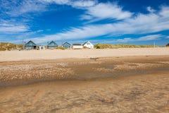 Wölbung versandet Strand England Großbritannien Lizenzfreies Stockbild