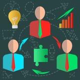 Wlepiający oczy biznesowi infographics dyskusi pomysły Zdjęcia Stock