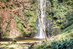 Wli waterfall in the Volta Region in Ghana Royalty Free Stock Images