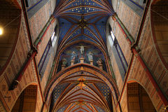 Wloclawek cathedral. Wloclawek, Poland - interior of famous cathedral church Stock Image