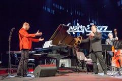 Wlodek Pawlik przy Kaunas jazzem 2015 Obrazy Stock