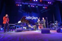 Wlodek Pawlik przy Kaunas jazzem 2015 Obraz Stock