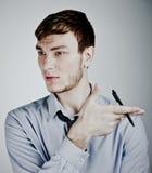 wlth портрета пер руки бизнесмена Стоковое фото RF