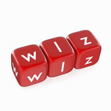 WLZ on Red Dice Stock Photo