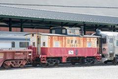 WM ingen 1803 västra Maryland järnvägCaboose Arkivfoton