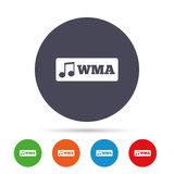 Wma music format sign icon. Musical symbol. Royalty Free Stock Images