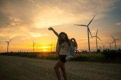 Wman-Aufgabe im Windpark stockbilder