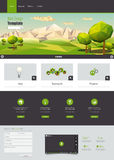 WModern Eco website template with flat eco landscape illustration Stock Photography