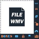 WMV icon flat. WMV. Perfect icon with bonus simple icons royalty free illustration